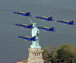 The Blue Angles .  Have seen them many times.: Statue Of Liberty, Lady Liberty, Aircraft, Navy Blue, Blue Angels
