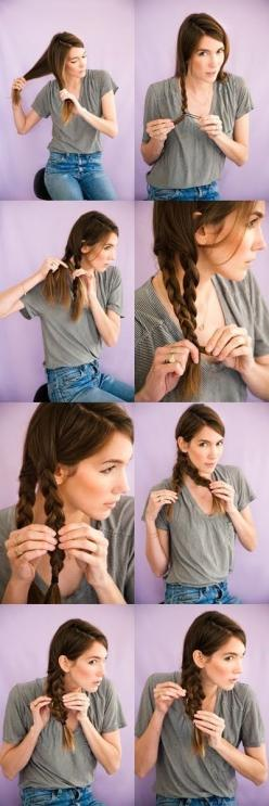 The Mermaid Tail Braid | 23 Five-Minute Hairstyles For Busy Mornings: Mermaid Braid, Mermaid Tail Braids, Hairstyles, Hair Styles, Hair Tutorial, Makeup, Mermaid Tails