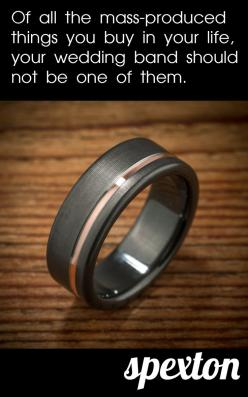 The overwhelming majority of men's wedding bands are mass-produced overseas.  A ring from Spexton will be your own, handmade in our American machine shops to your custom design specs.: Mens Wedding Band, Men'S Wedding Band, Men Wedding Bands, Cust