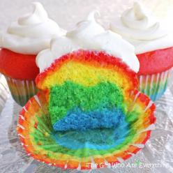 The perfect ending to a unit about rainbows or weather!: Birthday, Idea, Sweet, Recipe, Rainbow Cake, Food, Rainbows, Rainbow Cupcakes, Dessert