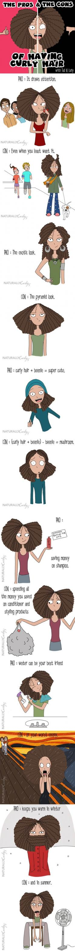 The Pros and Cons of Having Curly Hair. @Elyse Exposito Exposito Exposito Exposito Garverick XD: Naturally Curly, Hair Problems, My Life, So True, Natural Hair, Curly Girl, Curly Hair, Curlyhair