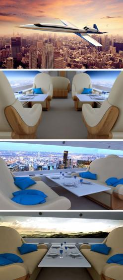 The Spike S-512 Supersonic Jet. Windowless supersonic Jet lets you ride in the clouds - what you are seeing is two long monitors with cameras mounted outside the plane.: S 512 Supersonic, Luxury Jet, Cloud, Supersonic Jet, Luxury Airplane, Private Jet