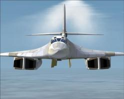 The Tupolev Tu-160 is a supersonic, variable-sweep wing heavy strategic bomber designed in the Soviet Union. Tu-160 is currently the world's largest combat aircraft, largest supersonic aircraft, and largest variable-sweep aircraft built. In addition,
