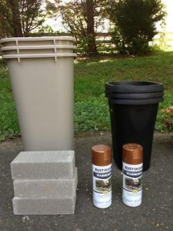 TheSpottedLamb -- DIY Large Outdoor Planters for $15!: Flower Pot, Diy Outdoor Planter, Diy Large Planter, Cheap Planter, Gardening Outdoor, Outdoor Planters