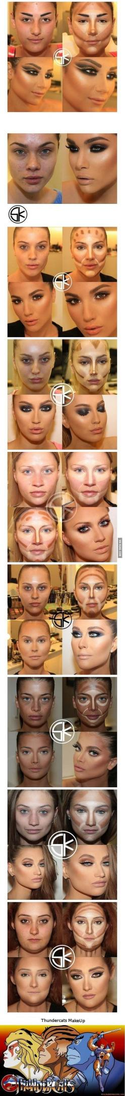 This is actually helpfull makeup tutorial...(just don't go extrem...) If you do, it's nothing but lies, don't forget to take them to the pool.: