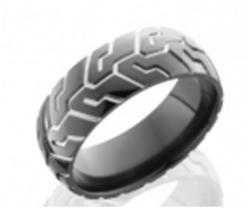 "This is the perfect wedding band for a man who loves to work on his car, is a mechanic, or just simply loves cars. This Black Zirconium Tire Tread Design Wedding Band at ASK Design Jewelers will make him even more eager to say ""I do"".: Style, Wedd"