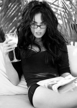 this!!! My kind of afternoon....dressed sexy, drinking wine, and reading :) esp if my honey is right next to me :): Wine, Afternoon Dressed Sexy, Megan Rocks, Fox Meganfox, Megan Fox Hair, Megan Fox Sexy, Sexy Glasses, Sexy Reading Glasses