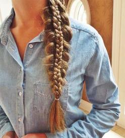 To perpetuate my love affair with braids... 50 French braid hairstyles for 2015. Cute French Side Braid: French Braids, French Braid Hairstyles, Cute Hairstyle, Cute Braided Hairstyle, Long Hair Braid, Cute Hair Braid, Braided Hairstyles