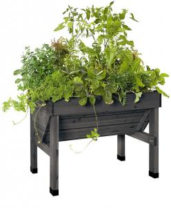 Tomato Planters & Containers for Vegetable Gardens | Shop Gardeners Supply: Compact Vegtrugtm, Charcoal, Raised Beds, Patio Garden, Gardens, Gardening, Vegtrugtm Patio, Vegtrug Patio