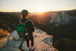 "topo-designs: ""Incredible photo of our Rover Pack taking in the Yosemite Sunset. Topo Designs Rover Pack joelbearstudios "": Sock, Mountain, Pretty Girl, Adventures"
