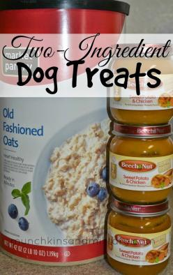 Two-Ingredient Homemade Dog Treat Recipe - be sure to check the ingredients first: Diy Dog Treat, Homemade Dog Treat Recipe, Easy Recipe, Baby Food, Homemade Dog Treats, Two Ingredient Homemade, Homemade Doggie Treat, Homemade Dog Food Recipe, Puppy Treat