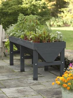 VegTrug Patio Garden Charcoal | Buy from Gardeners Supply: Charcoal, Vegtrug 8482, Garden Ideas, Raised Beds, Patio Garden, Gardens, Gardening, Vegtrugtm Patio, Vegtrug Patio