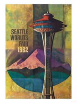 Vintage Seattle World's Fair Poster: Washington, Space Needle, Seattle, Fair Promo, Allposters Com, Promo Poster