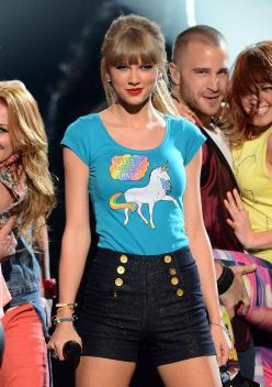 "Wear a ""Haters Gonna Hate"" shirt with a unicorn on it: 