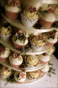 Whether it looks elegant or shabby..it doesn't matter coz I'm gonna eat you ALL!!! haha: Wedding Ideas, Wedding Cupcakes, Rose Wedding, Wedding Cakes, Rose Cupcake, Vintage Cupcake, Vintage Roses, Photo, Cupcake Towers