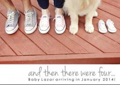 Why not include the whole household in your pregnancy announcement? The 50 dogs got it right! #pregnancy #Photography: Baby Reveal Photo Idea, Pregnancy Annoucement, Pregnancy Announcement Pet, Baby Announcement Photo, Dog Baby Announcement, Baby Announce