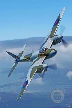 With two Merlin engines this precision fighter bomber was the next step from the Spitfire: Wwii, Enchanted Knight, Dehavillandmosquito, Aircraft, Posts, War Birds, Dehavilland Mosquito, Mosquitoes