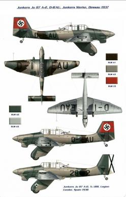 World War II - Junkers Ju87 Stuka - a disaster when put against the P 51 Mustang or Spitfire, slow and vulnerable. But good if no real opposition was around.: 640 996 Pixels, 771 1 200 Pixels, War Wwii Weapons Aircraft Axis, Airplane, 51 Mustang, War Plan