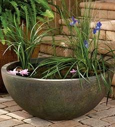 Would love a small pond such as this one: Container Water Gardens, Gardening Outdoor Ponds, Water Features, Diy Ponds, Container Ponds, Waterponds Waterfalls, Outdoors Ponds Fountains Tips, Patio Ponds
