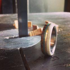 Wow. Just wow.   https://www.etsy.com/listing/203601276/mens-wedding-band-wood-and-antler-ring: Band Wood, Men Wedding Bands, Antlers, Weddings, Men'S, Woods, Engagement Wedding Rings, Antler Ring