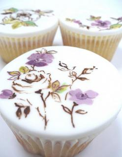 Wow! .....just wow these are beautiful!!! Think how fun it would be to paint cupcakes, but how much time it would take on each one...: Cup Cakes, Wedding Cupcakes, Cupcake Ideas, Flower Cupcakes, Pretty Cupcake, Wedding Cake, Mini Cakes