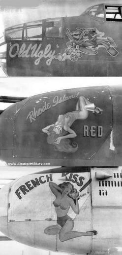 wwII noise art | WWII - BOMBER NOSE ART - FRENCH KISS: History, Wwii French, Pinup Community, Pinups, Http Thepinuppodcast With, Nose Art Wwii, Noseart, Pin Up