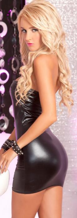 Yandy | Hot And Wet Mini Dress: Hot Blondes, Girls, Dresses, Beautiful, Latex, Women