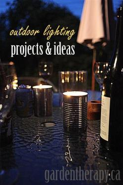10 DIY Outdoor Lighting Projects and Ideas -- need help with any of these ideas??  Contact http://www.duranteelectric.com!: Citronella Candles, Craft, Garden Therapy, Diy'S, Lighting Projects, Outdoor Lighting, Diy Outdoor, Lighting Ideas