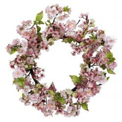 "24 Inch Cherry Blossom Wreath Decor - Is it springtime yet? Have the Cherry Blossoms bloomed? That's the feeling this stunning 24"" Cherry Blossom Wreath Decor will bring forth, no matter what time of year it is. People flock from all over to see the Cherr"