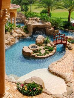 30 Beautiful Backyard Ponds And Water Garden Ideas | Daily source for inspiration and fresh ideas on Architecture, Art and Design: Idea, Dream House, Water Garden, Pools