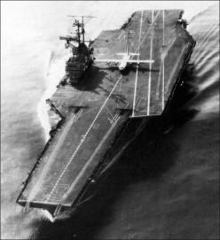 30 October 1963 when the U.S. Navy decided to try to land a Hercules on an aircraft carrier, the USS FORRESTAL. Lockheed's only modifications to the original plane included installing a smaller nose-landing gear orifice, an improved anti-skid braking