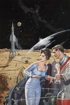 """""""Are they seriously clamping my rocket???""""   ~~ """"It's alright - I've drugged your drink as well!"""": Robert Schulz, Retro Futurism, Scifi, Sci Fi Art, Retro Future, Science Fiction, Tomorrow People, Vintage Sci, Space Age"""