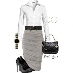"""Cute work outfit"" by keri-cruz on Polyvore: Court Outfit, Style, Cute Outfits, Pencil Skirts, Cute Work Outfits, Church Outfit, Work Attire"
