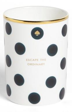"""""""escape the ordinary"""" kate spade new york: Nordstrom, Candles White, Kate Spade Cups, Kate Spade Mug, Dazzling Scented, Candles Save, Amber Scented Candle, Scented Candles, New York"""