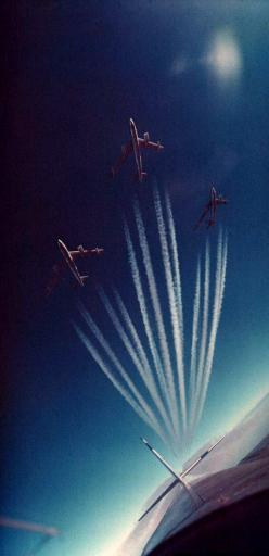 A contrail-making section of Boeing B-47 Stratojets streaks across the sky.: Airplanes Airplanes, Beautiful Photo, Sky, Stratojets Streaks, Contrail Making, B 47 Stratojets, Air Planes, Aeropuertos Aviones