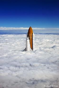 Above The Clouds by Richard Silvera: Clouds, Picture, Photos, Stuff, Awesome, Space Shuttle, Photography