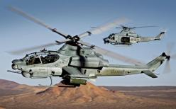 AH-1Z Venom | AH-1Z flying in the foreground with a UH-1Y in the background: Aviation, Super Cobra, Hueycobra Supercobra Viper Ah1, Military Helicopters, Chopper