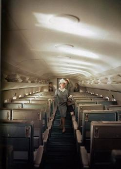 back when travel was glamorous. (i.e. before it became acceptable to fly in a velour juicy suit): Photos, John Rawlings, 1950S, Airplane, 50 S, Vintage Travel, Airtravel, Flight Attendant, Air Travel