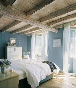 bedroom colours: Ideas, Interior, Beach House, Dream, Blue Wall, Wall Color, Bedrooms, Master Bedroom