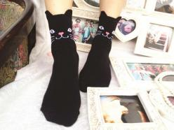 Black Cat Socks: Black Cats, Socks Black, Cat Socks, Ankle Socks, Cat Black, Fun Socks, Blackcat Lulu