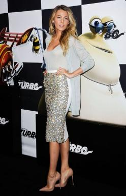 Blake Lively makes sparkle subtle with a cardi and nude pumps: Holiday, Party Outfit, Fashion, Style, Blake Lively, Dress, Pencil Skirts, Blakelively