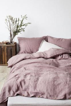 blush pink stone washed lined duvet cover: Interior, Rose, Duvet Cover