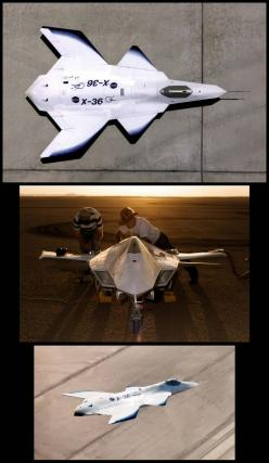 Boeing X-36: Successful prototype of tailless fighter designed to improve the maneuverability/survivability of future aircraft: Aircraft Planes, Fighter Planes Jets, 09 Jet, X Airplanes, Jets Airplanes, Military Airplanes, Future Airplanes, Air Planes