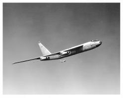 "Boeing XB-52 ""Stratofortress"" with Boeing's North American F-86F-25-NH ""Sabre"" chase plane.: B52 Stratofortress, Aircraft, B52 Buff, B52 Bomber, Photo, Warbird"
