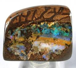 Boulder Opal from Australia- how impossibly beuatiful is this?: Precious Stones, Interesting Gemstones, Rock Gemstones Opals, Rocks Gemstones, Colorful Gemstones, Gemstones Minerals Opals, Gorgeous Gemstones, Crystals Stones Minerals