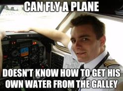 Can fly a plane. Doesn't know how to get his own water from the galley #flightattendant #crewlife: Attendant Life, Cabin Crew, Airline Humor, Attendant Humor, Crew Life, Airlines Stuff