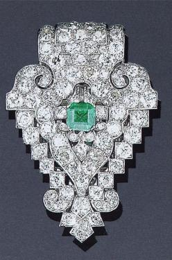 Cartier London Art Deco Diamond Emerald Clip by Clive Kandel, via Flickr: Emeralds Diamonds, Cartier Jewelry, London Art, Art Deco Diamond, Cartier London, Deco Jewelry, Diamonds Emeralds