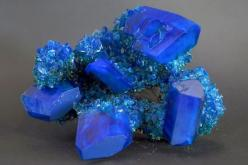 Chalcanthite;  It is an excellent mineral for activation of the throat chakra, bringing a smooth flow of communication and elocution in all situations.: Gemstones Rock, Crystals Minerals Gemstones, Blue Color, Quartz Gemstones Minerals, Colorful Gemstones
