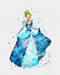 Cinderella Watercolor Art via VIVIDEDITIONS: Disney Watercolor Art, Art Inspiration, Watercolor Art Disney, Disney Watercolor Painting, Disney Princess, Watercolor Princess, Cinderella Art, Disney Art Watercolor, Disney Watercolors