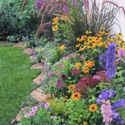 Colorful garden in a day - plant list included: Outdoor Garden, Yard Idea, Front Yard